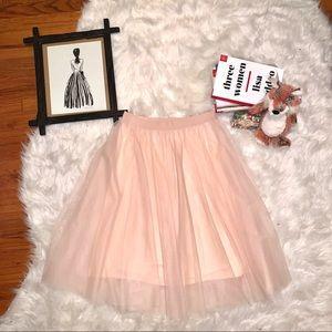 Pink Tutu Midi Skirt